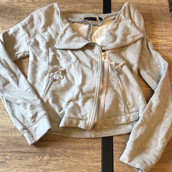 Jackets & Blazers - Moto Sweatshirt Jacket